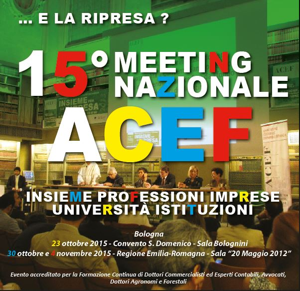 Meeting Nazionale ACEF 2