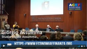 Il diritto d'autore – L'intervento del prof. Giorgio Assumma