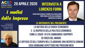 Intervista a Lorenzo Forni – Prometeia Associazione