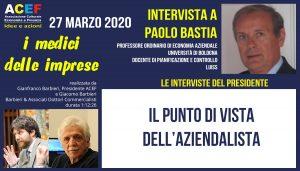 Una nuova intervista a Paolo Bastia – Università di Bologna