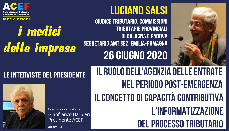 Intervista a Luciano Salsi – Giudice Tributario