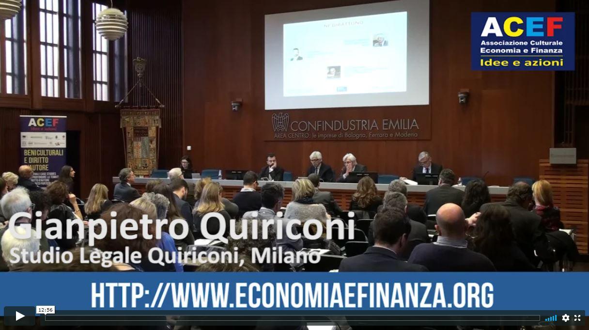 Beni culturali e diritto d'autore – Avvocato Gianpietro Quiriconi