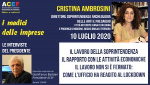 Intervista a Cristina Ambrosini – Soprintendente Archeologia, Belle Arti e Paesaggio