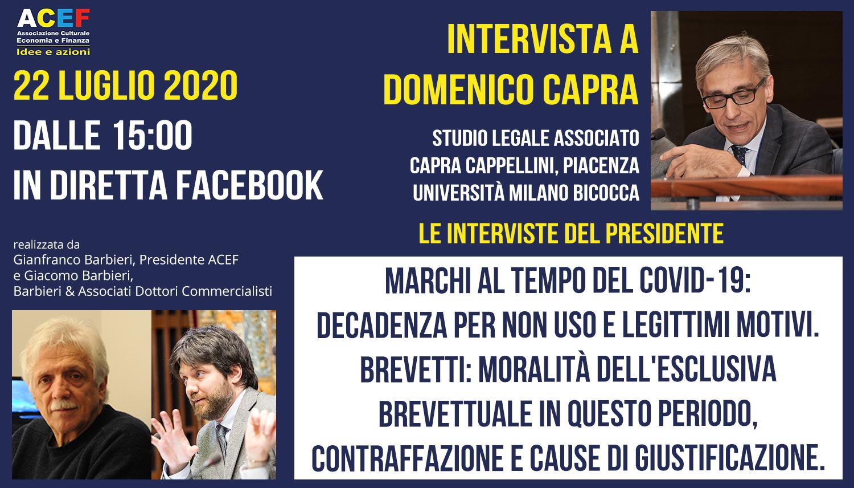 Intervista a Domenico Capra – Avvocato, Università Milano Bicocca