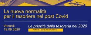 Evento AITI 18 settembre 2020 – La nuova normalità per il tesoriere post Covid