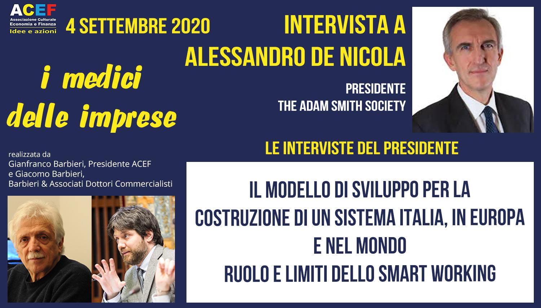 Intervista a Alessandro De Nicola – The Adam Smith Society