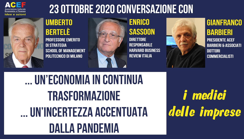 Conversazione con Enrico Sassoon e Umberto Bertelè