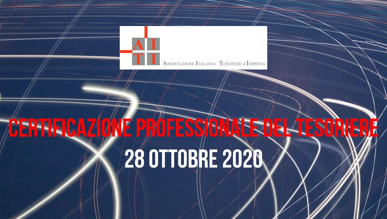 AITI – Certificazione Professionale del Tesoriere – 28 ottobre 2020