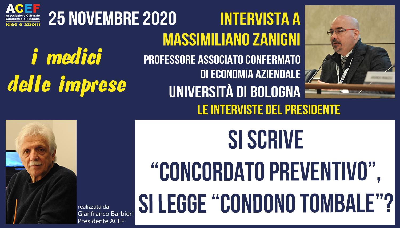 Intervista a Massimiliano Zanigni – Professore di Economia Aziendale – UNIBO