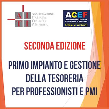 """Read more about the article Corso """"Primo impianto e gestione della tesoreria per professionisti e PMI"""" – Seconda edizione"""
