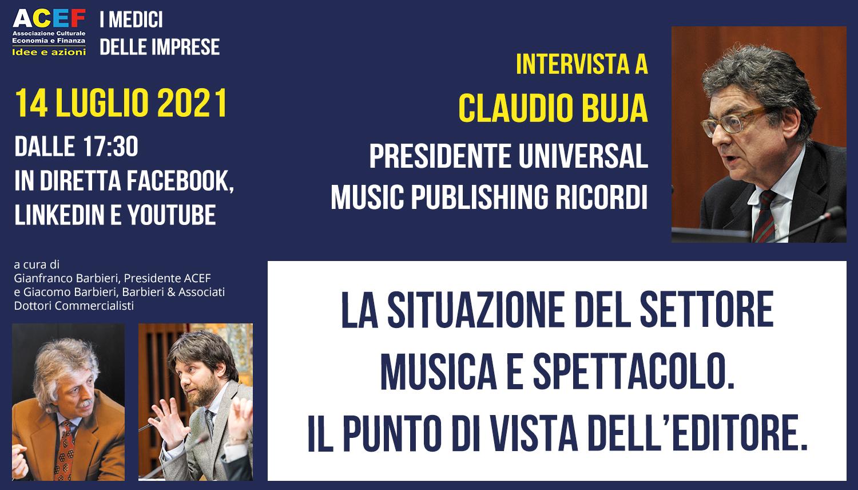 Read more about the article La situazione del settore musicale: il punto di vista dell'editore – CLAUDIO BUJA, 14/07/2021